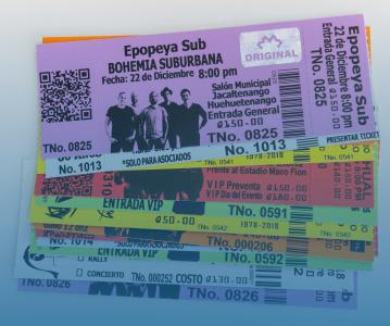 Tickets Con Holograma de seguridad, dos codos desprendibles